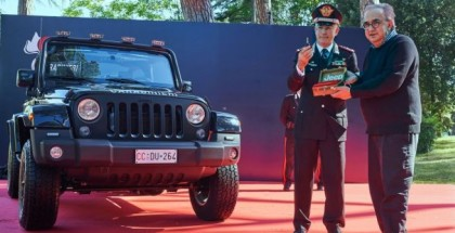 Italian Carabinieri Takes Delivery Of Jeep Wrangler Police Car