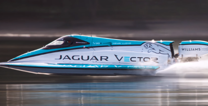 Jaguar Electric Boat Speed World Record