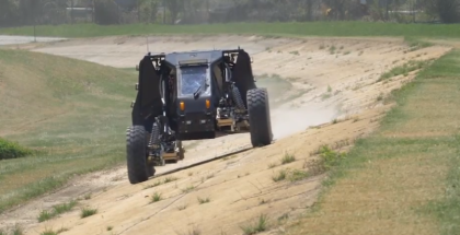 Reconfigurable Wheel-Track & Extreme Travel Suspension By DARPA