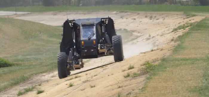Reconfigurable Wheel-Track & Extreme Travel Suspension By DARPA – Video