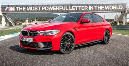 2018 BMW M5 in Rosso Corsa Red