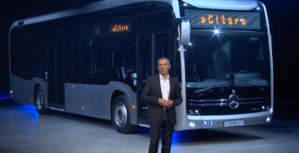 2019 Electric Mercedes eCitaro Bus & printer City 75 Unveiling
