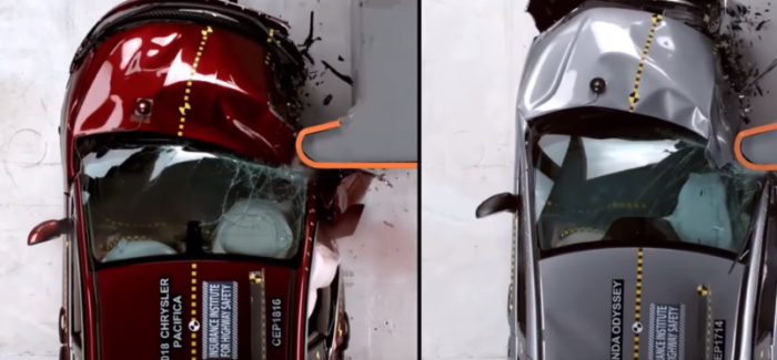 2018 Chrysler Pacifica vs Toyota Sienna vs Honda Odyssey Minivan Crash Test – Video