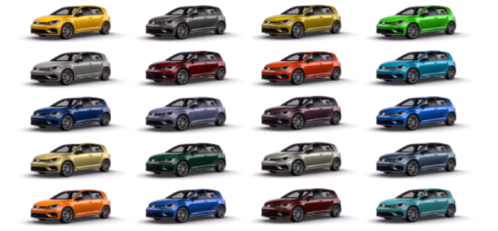 2019 VW Golf R Spektrum Program Colors