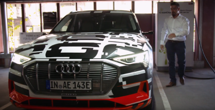 Audi e-tron Prototype fully charged in nearly 30 minutes
