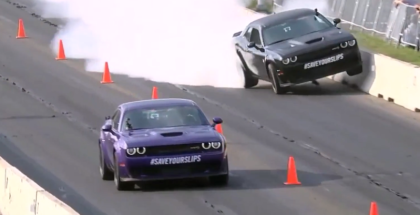 Dodge Challenger Hellcat Widebody Richard Rawlings Drag Racing Crash