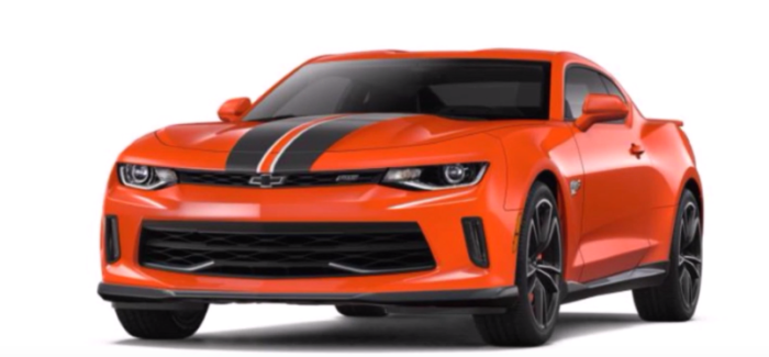 Chevrolet Camaro 2018 Colors
