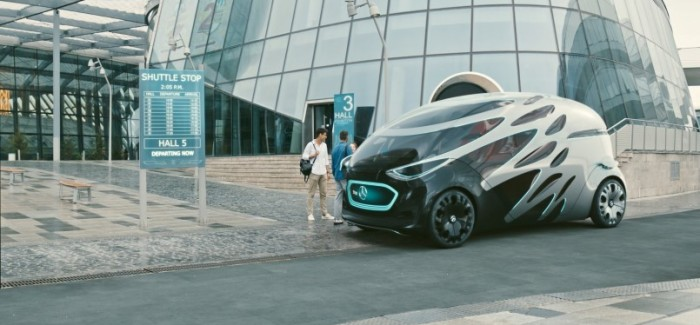 Mercedes Vision URBANETIC Electric Van Unveiling – Video