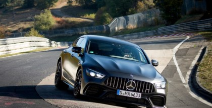 Mercedes-AMG GT 63 S 4MATIC+ ist der schnellste Serien-Viersitzer auf der Nordschleife;Kraftstoffv erbrauch kombiniert: 11,3 l/100 km, CO2 Emissionen kombiniert: 257 g/km*  Mercedes-AMG GT 63 S 4MATIC+ is the fastest series production four-seater on the North Loop;Fuel consumption combined: 11.3 l/100 km, CO2 emissions combined: 257 g/km*